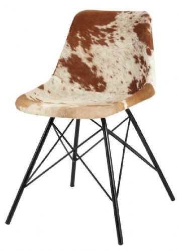 Pair of Cowhide Dining Chairs